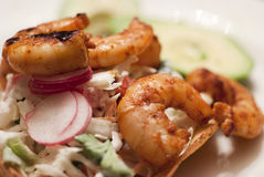 Shrimp Tostadas Royalty Free Stock Images