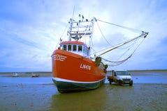 Shrimp trawler close up. Stock Image