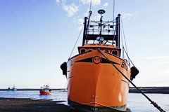 Shrimp trawler . royalty free stock photography