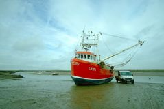 Shrimp trawler and truck. Royalty Free Stock Photography