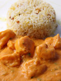 Shrimp in a tropical sauce Stock Photography