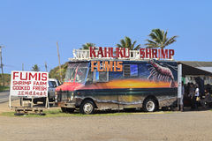 Shrimp truck on oahu Stock Images