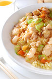Shrimp vegetable fried rice Stock Photos