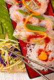 Shrimp Vegetable Spring Rolls Royalty Free Stock Photo