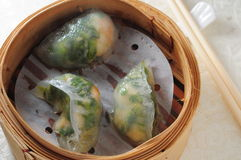 Shrimp veggie dumpling Royalty Free Stock Photos