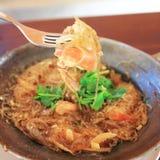 Shrimp with vermicelli Stock Photo