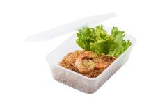 Shrimp and vermicelli Stock Photos