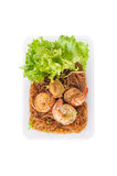 Shrimp and vermicelli Royalty Free Stock Photography