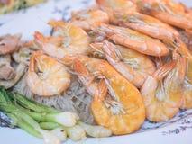 Shrimp and vermicelli baked Stock Photos