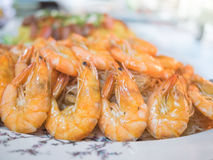 Shrimp and vermicelli baked Stock Photo