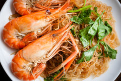 Shrimp vermicelli. Stock Photography