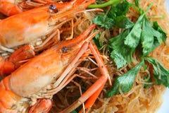 Shrimp vermicelli. Thai food Royalty Free Stock Photo