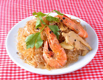 Shrimp vermicelli Thai food Royalty Free Stock Photography