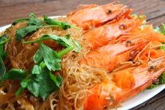Shrimp vermicelli. Thai food Royalty Free Stock Photos