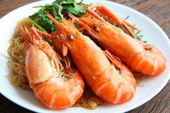 Shrimp vermicelli. Thai food Stock Photos
