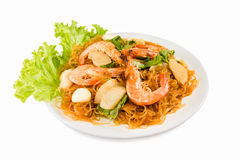 Shrimp vermicelli Thai food Stock Photography