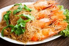 Shrimp vermicelli. Thai food Stock Photo