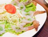 Shrimp with wasabi Stock Photography