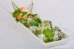 Shrimp Wasabi Stock Photo