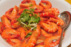 Shrimp with Wine Stock Photography