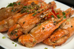 Shrimp With Black Pepper Chinese Food Royalty Free Stock Photo