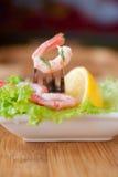 Shrimp With Fresh Salad Stock Image