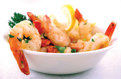 Shrimp With Garlic Royalty Free Stock Photography