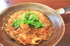 Shrimp With Vermicelli Stock Images