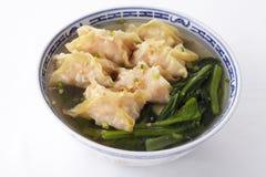 Shrimp wonton soup Stock Images