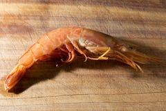 Shrimp on wood Royalty Free Stock Photo