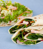 Shrimp wrap sandwich Royalty Free Stock Photos