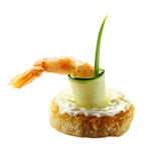 Shrimp And Zucchini Tidbit Stock Images