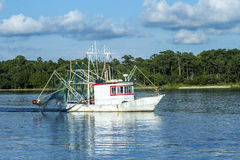 Shrimping łódź Obraz Royalty Free