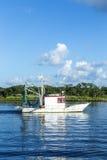 Shrimping łódź Zdjęcia Royalty Free