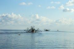 Shrimping łodzie Zdjęcia Royalty Free