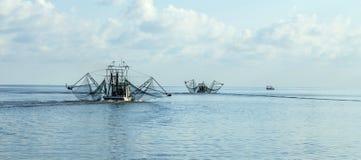 Shrimping-Boote Lizenzfreie Stockfotografie