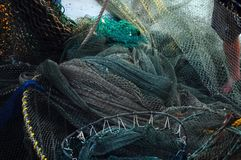 Shrimping nets Royalty Free Stock Images