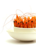Shrimps in a bowl Royalty Free Stock Images