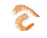 Shrimps Close Up On White Royalty Free Stock Image