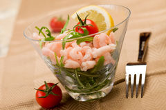 Shrimps cocktail appetizer Stock Photography