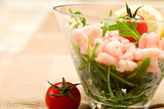 Shrimps cocktail appetizer Stock Photo