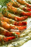 Shrimps in the cream Royalty Free Stock Photo