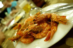 Shrimps for dinner Stock Images