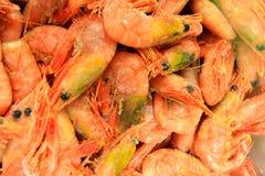 Shrimps fish market (Fisketorget) in Bergen, Norway Stock Photography