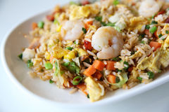 Shrimps fried rice , Chinese food Royalty Free Stock Photo