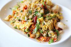 Shrimps fried rice , Chinese food Stock Photos