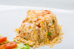 Shrimps with fried rice Royalty Free Stock Photography