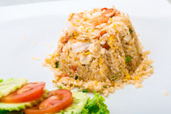 Shrimps with fried rice Stock Photography