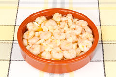 Shrimps with Garlic Royalty Free Stock Photography