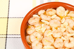 Shrimps with Garlic Stock Images